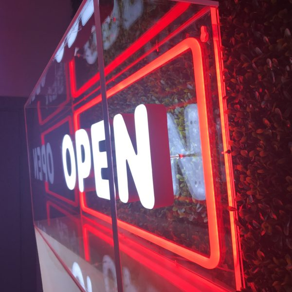 Neon sign ideas - block acrylic lettering