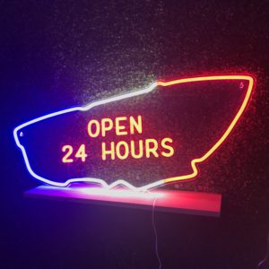 Le Mans 24 Hours - neon sign