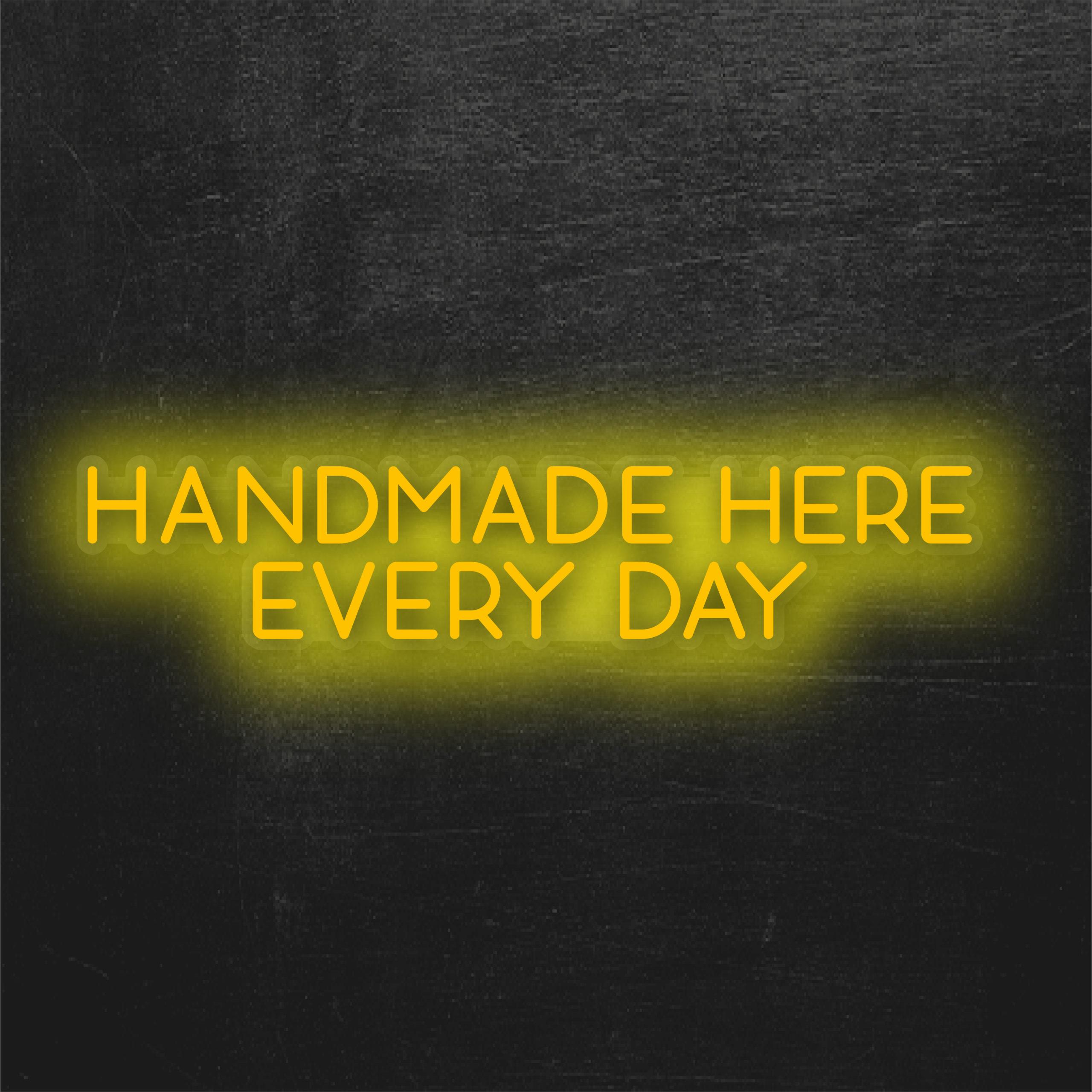Handmade neon sign